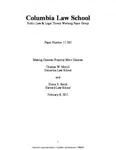 Columbia Law School - SSRN