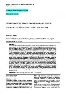 Combat Sports Special Issue Research article PHYSIOLOGICAL ...