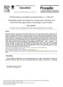 Combating Anxiety and Depression among School ... - ScienceDirect