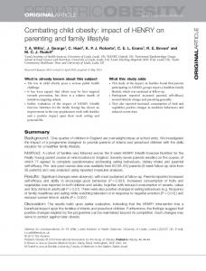 Combating child obesity: impact of HENRY on parenting and family ...