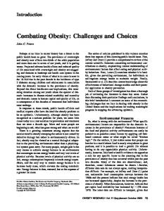 Combating Obesity: Challenges and Choices - Wiley Online Library
