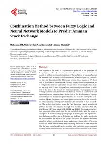 Combination Method between Fuzzy Logic and Neural Network ...