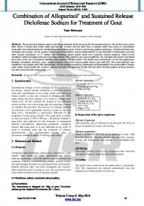 Combination of Allopurinol' and Sustained Release Diclofenac ...