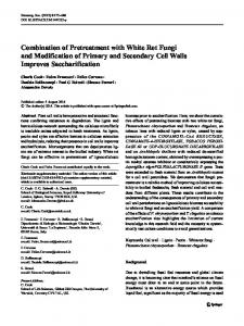 Combination of Pretreatment with White Rot Fungi and Modification of ...