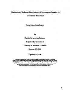 Combination of Surfactant Solubilization with Permanganate Oxidation
