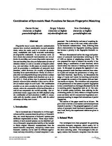 Combination of Symmetric Hash Functions for Secure Fingerprint ...