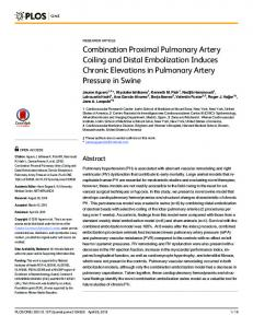 Combination Proximal Pulmonary Artery Coiling and Distal ...