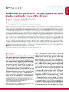 Combination therapy with GLP1 receptor agonists ... - BioMedSearch