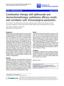 Combination therapy with ipilimumab and electrochemotherapy ...