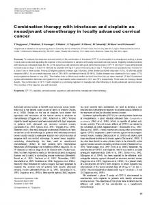 Combination therapy with irinotecan and cisplatin as ... - BioMedSearch