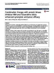 Combination therapy with protein kinase inhibitor H89