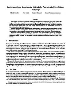 Combinatorial and Experimental Methods for Approximate ... - CiteSeerX