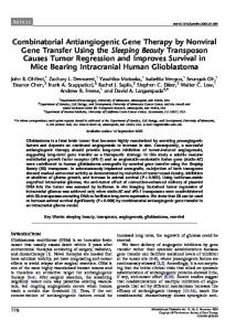 Combinatorial Antiangiogenic Gene Therapy by Nonviral Gene ...
