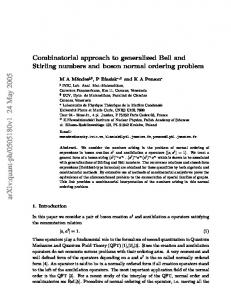 Combinatorial approach to generalized Bell and Stirling numbers and ...