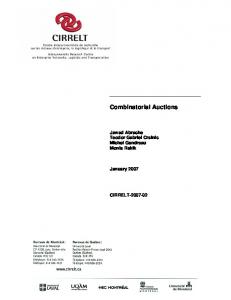 Combinatorial Auctions - CIRRELT