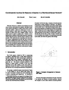 Combinatorial Auctions for Resource Allocation in a Distributed ...