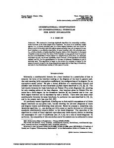COMBINATORIAL COMPUTATION OF COMBINATORIAL FORMULAS
