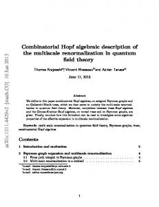 Combinatorial Hopf algebraic description of the multiscale