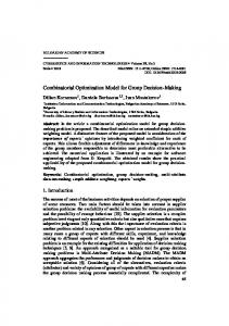 Combinatorial Optimization Model for Group Decision-Making