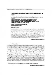 Combinatorial optimization of Ti/Al/Ti/Au ohmic contacts to n-GaN - ctcms
