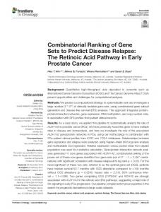 Combinatorial Ranking of Gene Sets to Predict ... - Semantic Scholar