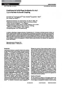 Combinatorial Solid-Phase Synthesis of 6-Aryl-1,3 ... - CSIRO Publishing