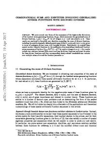 Combinatorial Sums and Identities Involving Generalized Divisor
