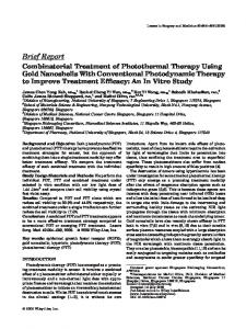 Combinatorial treatment of photothermal therapy using gold ...