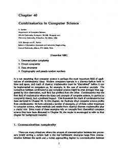 Combinatorics in Computer Science