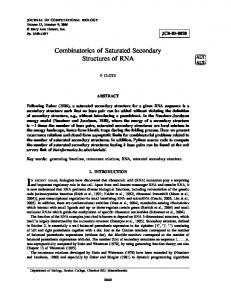 Combinatorics of Saturated Secondary Structures
