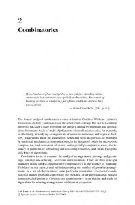 Combinatorics - Springer