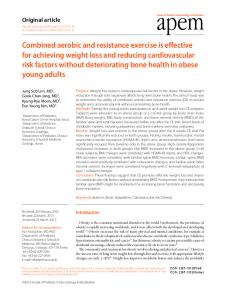 Combined aerobic and resistance exercise is ... - KoreaMed Synapse