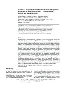 Combined Allogeneic Tumor Cell Vaccination and Systemic ...
