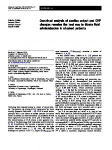 Combined analysis of cardiac output and CVP ... - Springer Link