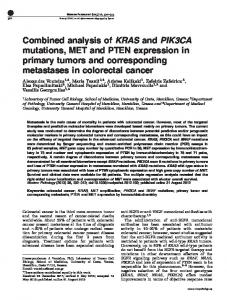 Combined analysis of KRAS and PIK3CA mutations, MET and ... - Nature