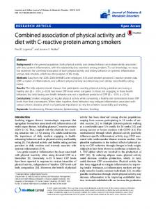 Combined association of physical activity and diet with C-reactive ...