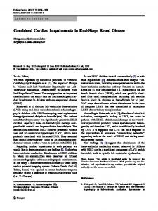 Combined Cardiac Impairments in End-Stage Renal ... - Springer Link