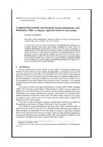 Combined Deterministic and Stochastic System Identification and ...