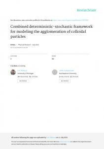 Combined deterministic-stochastic framework for