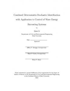 Combined Deterministic-Stochastic Identification with ... - DukeSpace