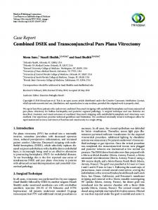 Combined DSEK and Transconjunctival Pars Plana Vitrectomy