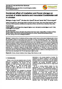 Combined effect of irradiation and frozen storage ... - Semantic Scholar
