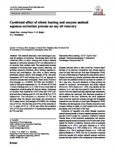 Combined effect of ohmic heating and enzyme assisted aqueous ...