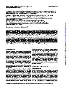 combined effects of depleted uranium and ionising radiation on ...