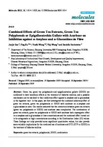 Combined Effects of Green Tea Extracts, Green Tea Polyphenols or ...