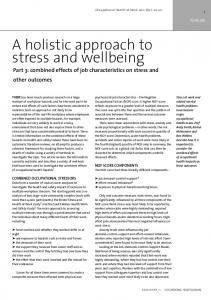 combined effects of job characteristics on stress and ...