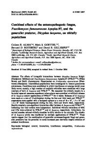 Combined effects of the entomopathogenic fungus ... - Springer Link