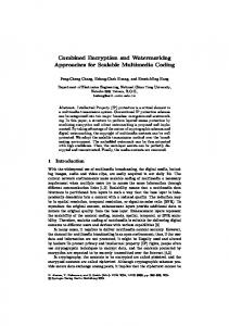 Combined Encryption and Watermarking Approaches ... - Springer Link