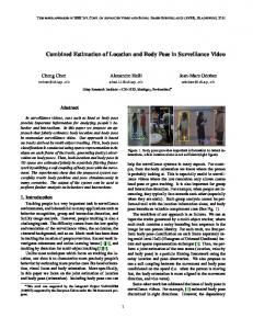 Combined Estimation of Location and Body Pose in Surveillance Video