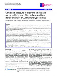 Combined exposure to cigarette smoke and ... - BioMedSearch
